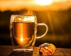 Tasse de thé pour un bon petit-déjeuner !