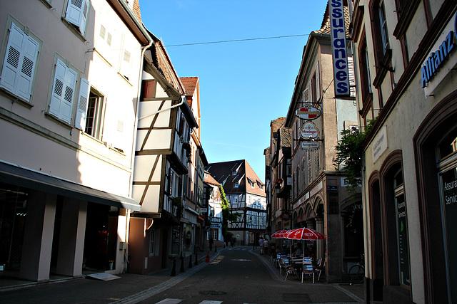 In Wissembourg - Blick in eine Strasse