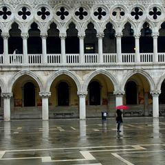 Regen auf der Piazzetta
