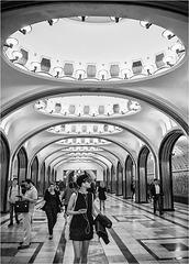 Métro de Moscou.