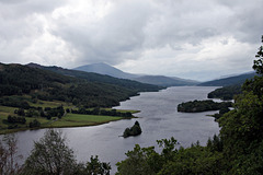Queens View Loch Tummel with Schiehallion just clear of cloud