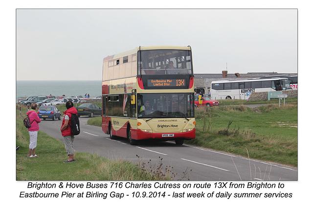 Brighton & Hove 716 - Birling Gap - 10.9.2014