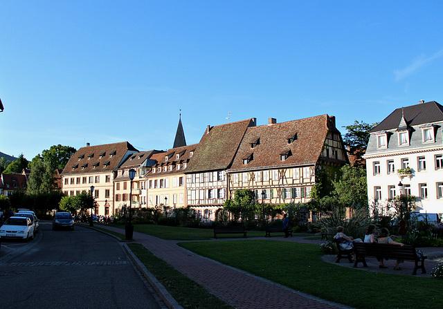 Häuserfront im Abendlicht - Wissembourg