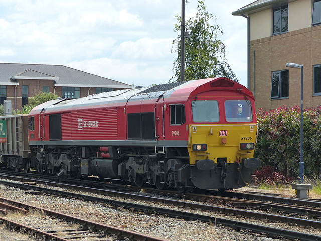 DB Schenker 59206 at Chichester (2) - 19 June 2015