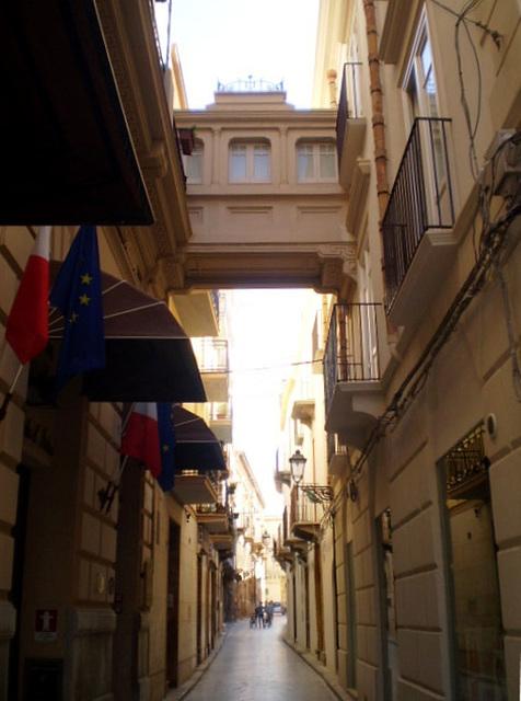Upper passage of Hotel Stella d'Italia.