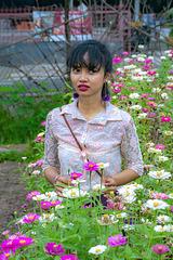 Rita in the flower field