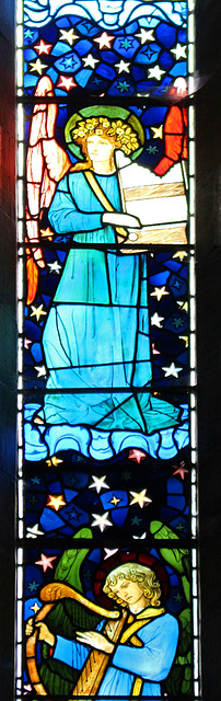 Detail of East Window, Staveley Church, Cumbria