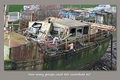 A wreck or a treasure trove of scrap - Newhaven - 7.1.2014