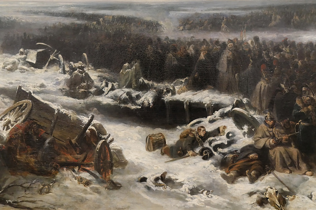 """""""Episode de la campagne de Russie"""" (détail) (Nicolas-Toussaint Charlet - 1836)"""