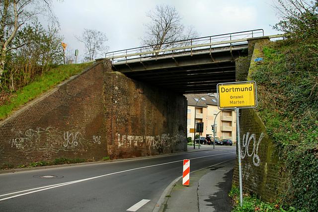 Bärenbruch, Eisenbahnbrücke (Dortmund-Marten) / 6.04.2019