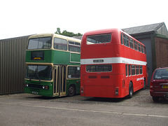 DSCF1093 Former Ipswich Buses C101 CHM and former Eastern Counties OCK 385K at the EATM, Carlton Colville