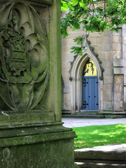 Blackburn Cathedral churchyard.