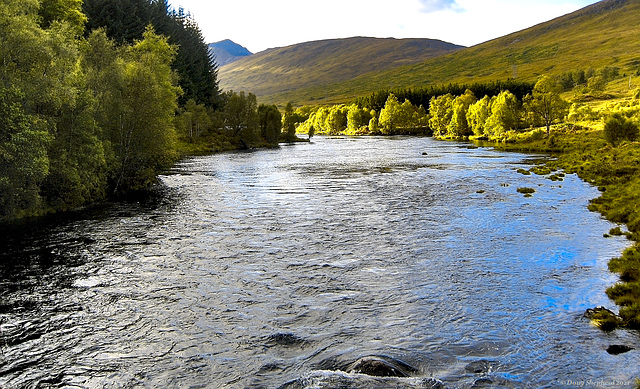 Late afternoon light on the River Garry