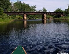 Canoeing Under the Abandoned Railway