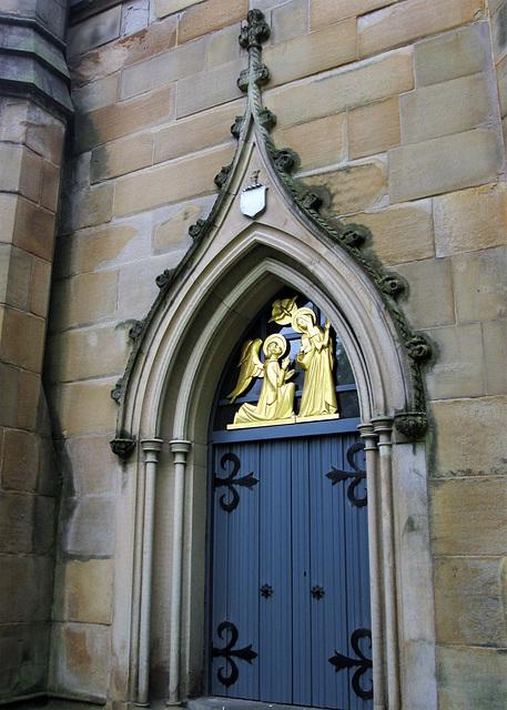 Side door - Blackburn Cathedral.
