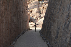 Namibia, Silhouette in the Passage to the Damara Living Museum