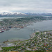 Norway, The City of Tromsø with Tromsøbrua and Arctic Cathedral