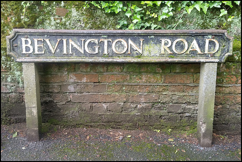 Bevington Road sign