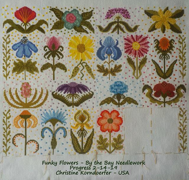Funky Flowers - Progress 2-14-19