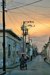 Along the side way in Camagüey