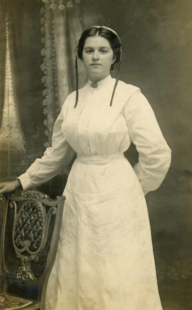 Edna Good in a White Dress