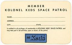 Kolonel Keds' Space Patrol Membership Card (Side 2)