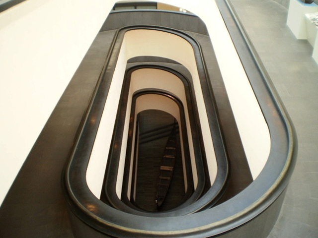 Spiral ramp.