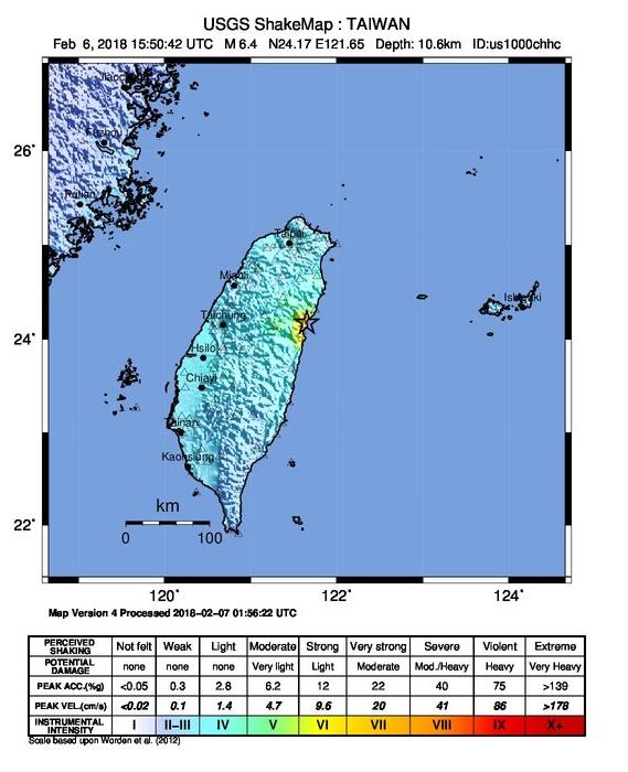 2018-02-07 13 24 22-M 6.4 - 22km NNE of Hualian, Taiwan