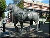 bronze dray horse sculpture