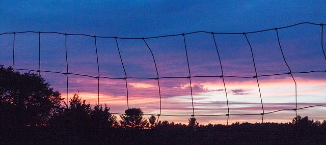 Fence, sunset, Hudson