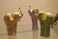 Three Glass Elephants 1
