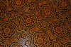 Painted wood detail