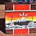 Plaque of Mount Taranaki.