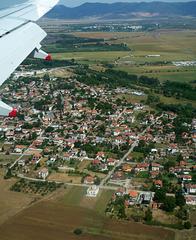 Over the village of Dolni Bogrov, just outside Sofia