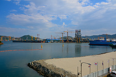 DSME ship building yard