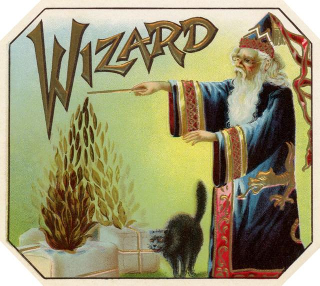 Wizard Cigar Box Label