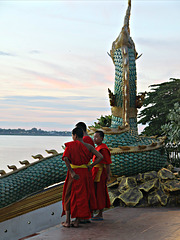 Monks by the Mekong