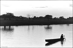 Fin de journée sur la Mékong