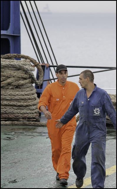 Ukrainian crew members