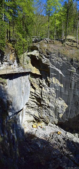 das Gebiet des Felssturzes in der Rappenlochschlucht (© Buelipix)
