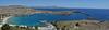 Rhodes, Lindos Bay of Mediterranean Sea