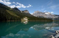 The Emerald waters of Emerald Lake.