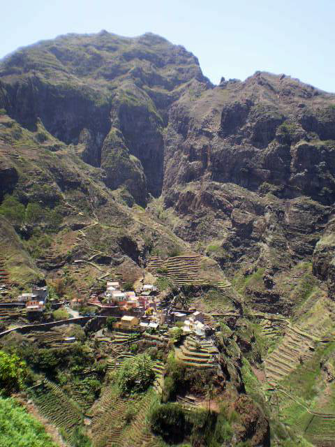 Rural village on the mountainside.