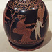 Detail of a Red-Figure Squat Lekythos Attributed to a Painter Near the Meidias Painter in the Virginia Museum of Fine Arts, June 2018