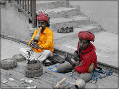 snake charmers at Rajastan
