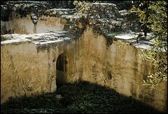 Open-air crypt