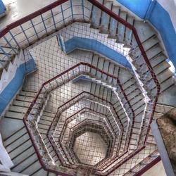 Treppenhaus der Tse-En-Pagode am Sonne-Mond-See (Taiwan)