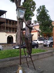 Sculpture of lamp supervisor.