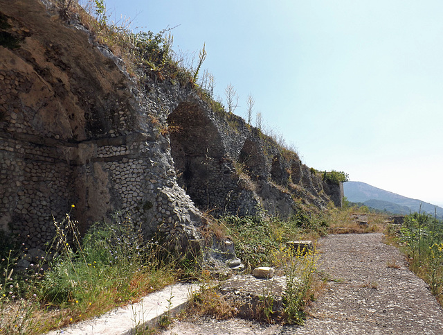 The Hemicycle Terrace in the Sancturary of Fortuna Primigenia in ancient Praeneste / modern Palestrina, June 2012