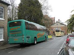 Reg's Coaches YN07 NUP in Bury St. Edmunds - 23 Nov 2019 (P1050931)